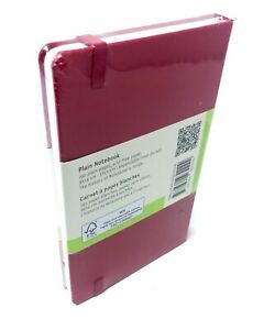 Scarlet red classic moleskine plain notebook 192-pages lined 9x14cm new
