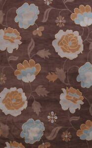 Contemporary Floral  Oriental Area Rug Hand-Tufted Wool Dining Room Carpet 8x11