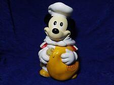 Vintage Cookie Jar Walt Disney's Mickey Mouse Chef Flour Sack Hoan Ltd. Ceramic