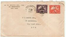 1924 HAITI Stamps NY & Canal Zone RPO Seapost cover Ship Mail To NY USA Paquebot