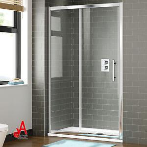 Shower Screen Wall to Wall Framed Sliding Door -40mm Adjustable Shower Enclosure