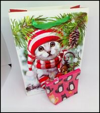 Christmas Cat gift bag and small purse