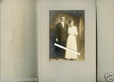Antique Photo in Folder-Man & Lady Standing - DEARDORF Family / Miller