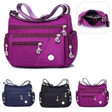 Women Waterproof Nylon Shoulder Bag Travel Multi-Pocket Messenger Handbag Tote
