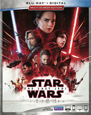 Star Wars: The Last Jedi (Brand New) Blu-ray Disc + Digital, 2018, Free Shipping