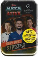 2019-20 Topps UEFA ChampionsLeagueSoccerMatchAttax 60c. SUPER BOOST STRIKERS TIN