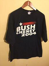 George W Bush/Cheney 2004 Presidential Campaign T-Shirt Blue Mens Sz XL