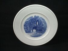"""Grotto Our Lady Lourdes Saint-Mary-Of-The-Woods Wedgwood Blue Plate 10.5"""" (Ad)"""
