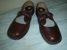 Born Women's W1853 Bittersweet Mary Jane Brown Leather W/ Elastic Straps Size 6