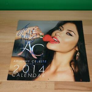 UFC MMA Octagon Girl Arianny Celeste autographed signed Calendar to Will