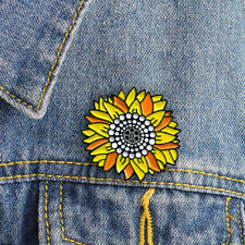 Backpack Jeans Jewelry Accessory Gift S Sunflower Pin Badge Brooch Metal Enamel