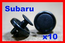 10 SUBARU bumper fender flare fascia trim panel fastener clips