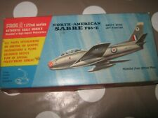 Frog RAF Sabre F86E Fighter 1:72 scale 1956 Rare kit