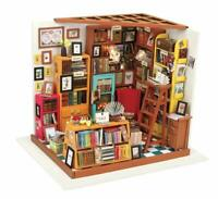 Hands Craft 3D Dollhouse Wooden Puzzle, Home Miniature Library - Sam's Study