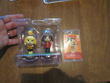 DIGBY + ISABELLE Amiibo + 3 CARDS ROSIE STITCHES GOLDIE ANIMAL CROSSING FESTIVAL