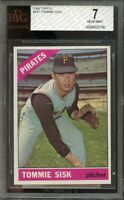 1966 topps #441 TOMMIE SISK pittsburgh pirates BGS BVG 7