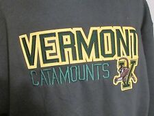 "Vermont Catamounts  Sweatshirt Hoodie  43>44"" Chest L Large Unisex New"