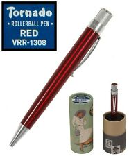 Retro 51 #VRR-1308 / Red Lacquered Twist Action Tornado Rollerball Pen