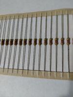 100pcs 4.7K Ohm Carbon Film Resistor 1/4W .25W 5%
