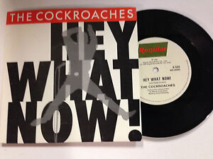 The Cockroaches, Hey What Now Exc 1980 Pc 7`` Single