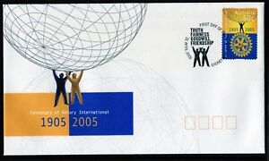 2005 Australia Centenary Of Rotary International 50c S/A Stamp FDC, Mint Cond