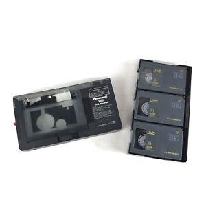 Set of 3 JVC Compact Video Cassette VHSC + VHS Play Pak