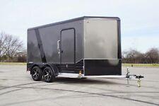 Legend ALUMINUM 7 X 12 V Nose Enclosed Motorcycle UTV Cargo Trailer LIGHT