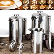 Kaffeebereiter Doppelwandig Edelstahl Kaffeekanne French Press Kaffepresse DHL
