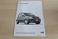 119980) Fiat Panda - Preise & tech Daten & Ausstattungen - Prospekt 04/2005