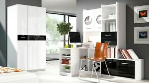 Modern Wall Unit PARADISE I Kids Office Bedroom Furniture Desk Shelves Wardrobe