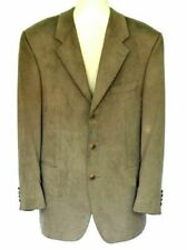 38 Regular, Brown Fortino Landi Mens Single Breasted Solid 3 Button Fashion Suit w// Vest 2916V
