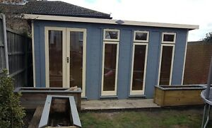Summer house   garden retreat  14x7  double glazed units      ERECTED FOR FREE