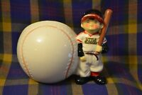 "Vintage NAPCOWARE Adorable  ""Little Slugger"" with Baseball Planter-C-632-Japan"