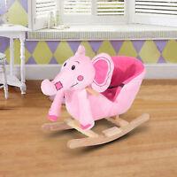 HOMCOM Children Ride Rocking on Horse Kids Rocker Wooden Nursery Rhymes