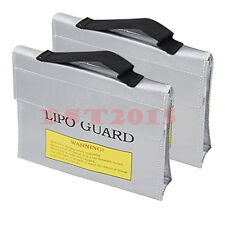 2X Large LiPo Safe Battery Guard Charging Protection Bag Fireproof 240X65X180mm