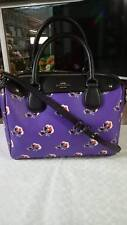 MINI BENNETT COACH SATCHEL IN FLORAL LOGO PRINT COATED CANVAS F57534