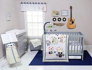 Trend Lab Safari Rock Band Baby Nursery Crib Bedding CHOOSE FROM 6 7 8 Piece Set