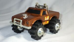 Vintage LJN Rough Riders 4 X4 Gold Toyota Pick Up Truck W/lights Tested Works!