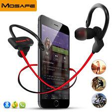 Bluetooth Headset Earphone Sports Headphone Wireless Stereo Earbuds Red Mosafe®