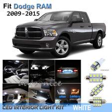 For 2009-2015 Dodge RAM 1500 2500 3500 Xenon White LED Interior Lights Kit