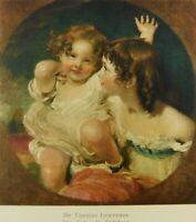 Sir Thomas Lawrence The Calmady Children Unposted Divided Back Vintage Postcard