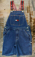 Tommy Hilfiger Jeans Overalls Shorts Spell Out Straps Logo Loop Carpenter Small