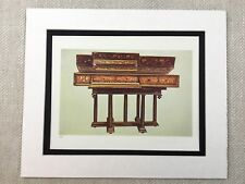 1888 Antique Musical Print Virginal Harpsichord Elizabeth I Old Chromolithograph
