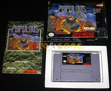 POPULOUS Super Nintendo SNES Versione Americana NTSC ○○○○○ COMPLETO