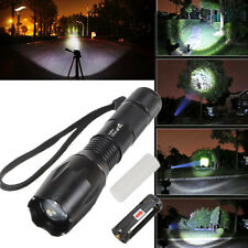E17 CREE XM-L T6 led 2000LM Aluminum Torches Zoom led flashlight torch light