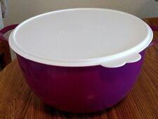 NEW Tupperware Thatsa MEGA Bowl PURPLE/ MAGENTA white seal 42 Cups Two Handles