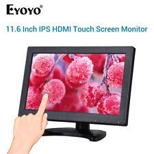 "Eyoyo 12"" IPS Touch Screen Monitor Built in Loudspeaker VGA Display for CCTV PC"