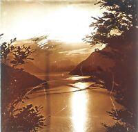 Suisse Lac 4 Cantoni Foto Stereo PL59L12n Placca Da Lente Vintage