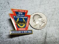 VFW Veterans of Foreign Wars Pennsylvania Commander Freedom Is Not Free Pin