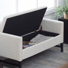 Backless Storage Bench End of Bed Entryway Bedroom Modern Upholstered Furniture